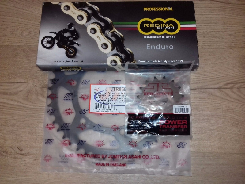 SPROCKET SET & CHAIN Regina-Z O Ring Ultra H/D Gold Chain 520 x 118 KTM YAMAHA HONDA