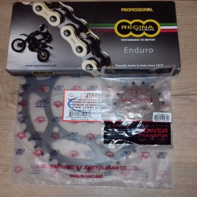 SPROCKET SET & CHAIN Regina-Z O Ring Ultra H/D Gold Chain 520 x 118 KTM YAMAHA HONDA
