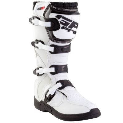 GP-PRO COMP SERIES 2.1 MX MOTOCROSS BOOTS  WHITE MOLDED SOLE
