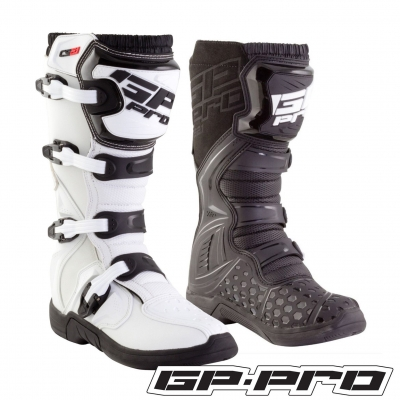 GP-PRO COMP SERIES 2.1 MX MOTOCROSS BOOTS BLACK MOLDED SOLE